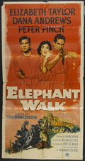 "Movie Posters:Adventure, Elephant Walk (Paramount, 1954). Three Sheet (41"" X 81"").Adventure...."