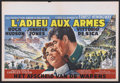 "Movie Posters:War, A Farewell to Arms (20th Century Fox, 1958). Belgian (15"" X 22"").War...."