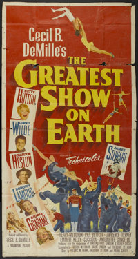 "The Greatest Show On Earth (Paramount, 1952). Three Sheet (41"" X 81""). Drama"