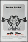"""Movie Posters:Crime, Dirty Harry/Magnum Force Combo (Warner Brothers, 1975). One Sheet(27"""" X 41""""). Crime...."""