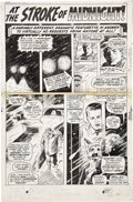 "Original Comic Art:Panel Pages, Gene Colan Daredevil Annual #1 ""At The Stroke of Midnight""page 1 Original Art (Marvel, 1967)...."