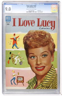 Four Color #535 I Love Lucy (Dell, 1954) CGC VF/NM 9.0 Cream to off-white pages