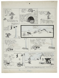 George Herriman - Krazy Kat Sunday Comic Strip Original Art, dated 3-31-18 (King Features Syndicate, 1918)