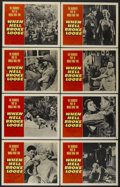 "Movie Posters:War, When Hell Broke Loose (Paramount, 1958). Lobby Card Set of 8 (11"" X14""). War.... (Total: 8 Items)"