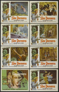 "Movie Posters:Horror, She Demons (Astor Pictures, 1958). Lobby Card Set of 8 (11"" X 14"").Horror.... (Total: 8 Items)"