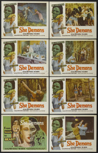 "She Demons (Astor Pictures, 1958). Lobby Card Set of 8 (11"" X 14""). Horror.... (Total: 8 Items)"