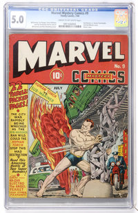 Marvel Mystery Comics #9 (Timely, 1940) CGC VG/FN 5.0 Cream to off-white pages
