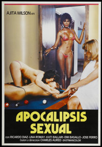 "Apocalipsis Sexual (Studio 80, 1982). Spanish One Sheet (27.5"" X 40""). Sexploitation"