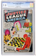 Silver Age (1956-1969):Superhero, Justice League of America #1 (DC, 1960) CGC FN/VF 7.0 Cream to off-white pages....