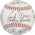 Autographs:Baseballs, Baseball Old Timers Multi-Signed Baseball with Mantle andDiMaggio....