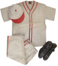 Baseball Collectibles:Uniforms, Circa 1910s-20s Children's Full Baseball Uniform.... (Total: 5 items)