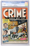 Golden Age (1938-1955):Crime, Crime Does Not Pay #22 (Lev Gleason, 1942) CGC FN/VF 7.0 White pages....