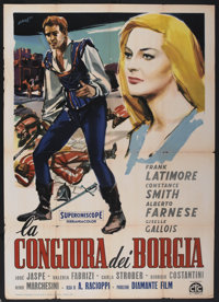 "Conspiracy of the Borgias (CTC, 1958). Italian 2 - Folio (39"" X 55""). Drama"