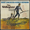 "Movie Posters:Western, The Unforgiven (United Artists, 1960). Six Sheet (81"" X 81""). Western...."