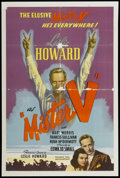 "Movie Posters:Adventure, Mister V (United Artists, 1942). One Sheet (27"" X 42"").Adventure...."