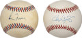 Autographs:Baseballs, Roger Clemens and Greg Maddux Single Signed Baseballs Lot of 2....(Total: 2 items)