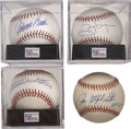 Autographs:Baseballs, Baseball Hall of Famers Single Signed Baseballs Lot of 4....(Total: 4 items)