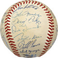 Autographs:Baseballs, 1984 Detroit Tigers World Champion Team Signed Baseball, PSA-Graded....