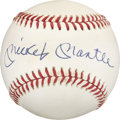Autographs:Baseballs, Mickey Mantle Single Signed Baseball with Mementos from theShangri-La Celebrity Golf Classic.... (Total: 6 items)
