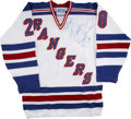 Hockey Collectibles:Uniforms, Tomas Sandstrom Signed New York Rangers Jersey....