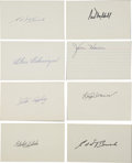 Autographs:Index Cards, Baseball Hall of Famers Signed Index Cards Lot of 9.... (Total: 9 cards)