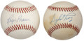 Autographs:Baseballs, Ralph Branca and Gaylord Perry Single Signed Baseball Lot of 2....(Total: 2 item)