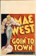"""Movie Posters:Comedy, Goin' to Town (Paramount, 1935). Window Card (14"""" X 22"""")...."""