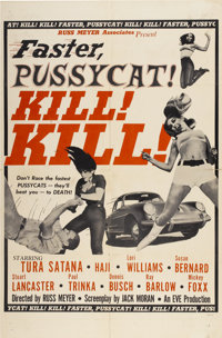 "Faster, Pussycat! Kill! Kill! (Eve Productions, 1965). One Sheet (27"" X 41"")"