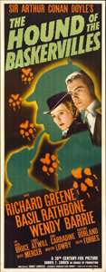 "Movie Posters:Mystery, The Hound of the Baskervilles (20th Century Fox, 1939). Insert (14"" X 36"")...."