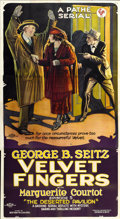 "Movie Posters:Serial, Velvet Fingers (Pathé, 1920). Three Sheet (41"" X 81"") Episode 5 --""The Deserted Pavilion.""..."