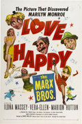 "Movie Posters:Comedy, Love Happy (United Artists, R-1953). One Sheet (27"" X 41"")...."