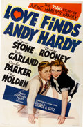 "Movie Posters:Comedy, Love Finds Andy Hardy (MGM, 1938). One Sheet (27"" X 41"") StyleC...."