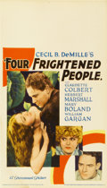 "Movie Posters:Drama, Four Frightened People (Paramount, 1934). Midget Window Card (8"" X 14"")...."