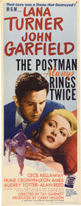 "Movie Posters:Film Noir, The Postman Always Rings Twice (MGM, 1946). Insert (14"" X 36"")...."
