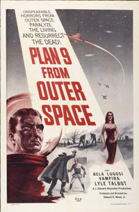 """Plan 9 from Outer Space (DCA, 1956). One Sheet (27"""" X 41"""")"""