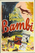 "Movie Posters:Animated, Bambi (RKO, R-1948). One Sheet (27"" X 41"") Style A...."