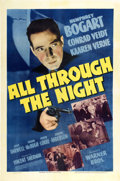 "Movie Posters:Action, All Through the Night (Warner Brothers, 1942). One Sheet (27"" X41"")...."