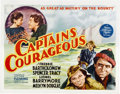 "Movie Posters:Adventure, Captains Courageous (MGM, 1937). Half Sheet (22"" X 28""). ..."