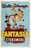 "Movie Posters:Animated, Fantasia (RKO, R-1946). One Sheet (27"" X 41"")...."