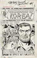 Original Comic Art:Splash Pages, Dick Ayers and Frank Giacoia Sgt. Fury Annual #1 Splash Page1 Original Art (Marvel, 1965)....