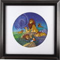 animation art:Limited Edition Cel, The Lion King Plate Original Art (Walt Disney Company,undated)....