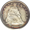 Seated Half Dimes, 1860 H10C Transitional MS65 PCGS....