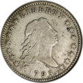 Early Half Dollars, 1795 50C Two Leaves, O-113a, R.4, Fine 15 NGC....