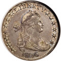 Early Half Dollars, 1806 50C Pointed 6, No Stem, O-109, R.1, AU53 NGC....