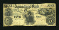 Obsoletes By State:Tennessee, Brownsville, TN- Agricultural Bank of Tennessee $5 Aug. 1, 1855. ...