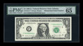 Error Notes:Mismatched Serial Numbers, Fr. 1912-F $1 1981A Federal Reserve Note. PMG Gem Uncirculated 65 EPQ.. ...