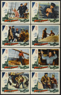 "Movie Posters:Adventure, Wolf Larsen (Allied Artists, 1958). Lobby Card Set of 8 (11"" X14""). Adventure.... (Total: 8 Items)"