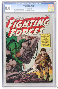 Our Fighting Forces #1 (DC, 1954) CGC VF 8.0 Off-white pages