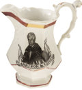 Political:3D & Other Display (pre-1896), William Henry Harrison: Fine Portrait Pitcher with 1840 CampaignMotifs....