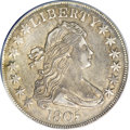 Early Half Dollars, 1805 50C O-113a, High R.4--Improperly Cleaned--NCS. AU Details....